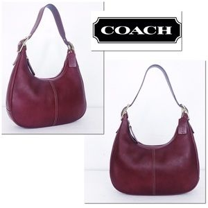 Coach Legacy West Red Leather Hobo Shoulder Bag